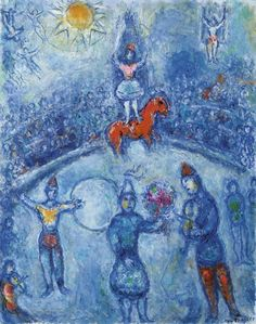 Marc Chagall 1887 - 1985 LE CIRQUE Signed Marc Chagall (lower right); signed Marc Chagall (on the reverse) Oil on canvas 36 1/8 by 28 3/4 in. 92 by 73 cm Painted in 1979-81.