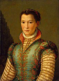 Studio of Alessandro Allori (1535-1607) — Portrait of Eleonora di Toledo, born Doña Leonor Álvarez de Toledo y Osorio (939x1280)