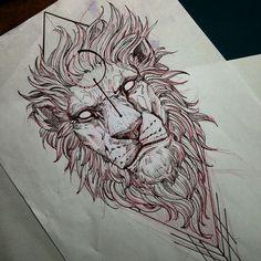 Lion @fredao_oliveira #draw #sketch #lion #blacktattooart #belohorizonte #pietatattoo #desenho #blackwork #blxckink