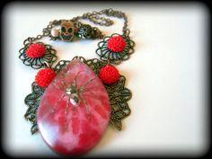 My Creepy Valentine  Real Spider Necklace        by KillJarJewelry, $24.00