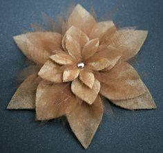 Gold organza and felt brooch (design 2) by Fix design, via Flickr