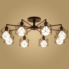 Free shipping Modern Retro Chandelier for Kitchen Bedroom Hanging Antique Iron Chandelier American Style #Affiliate