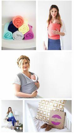 echarpe de portage jpmbb, echarpe bebe de couleur rose