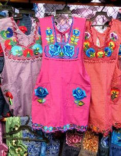 Beautifully embroidered aprons from Oaxaca, Photo credit: Lola's Cocina