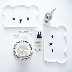 bo.po.mo.fo Baby Bear Melamine Plate/Tray now available at Designstuff.
