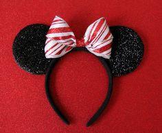 Christmas Mickey Ears Christmas Minnie Ears Candy Cane by Ulous