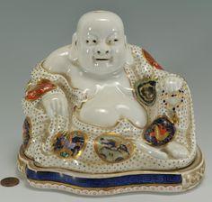 Porcelain Buddha inkwell