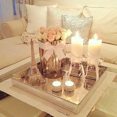 Love the combination of candles, flowers & mirror decor, check out @inspire_beautystorage, for more stunning beauty storage & decor ideas emoji #ZUKREAT #artistofmakeup #beautystorage #beautyideas