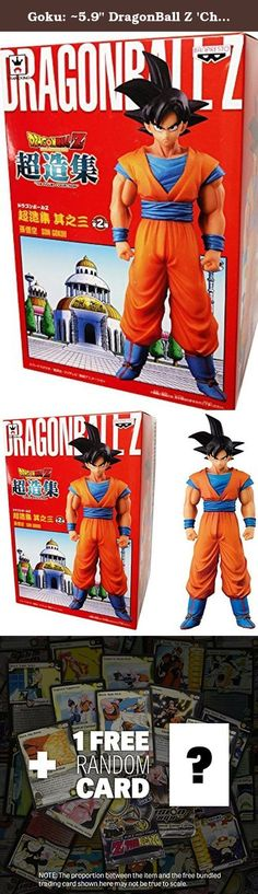 """Goku: ~5.9"""" DragonBall Z 'Chozoushu' The Figure Collection + 1 FREE Official DragonBall Trading Card Bundle (499452). This ~5.9"""" sculpture of Goku is part of the DragonBall Z 'Chozoushu' The Figure Collection from Banpresto! Banpresto creates this series and aims to create a collection of product that is made of super quality figures. In addition, the sculptor of each figure in this series are all artists who have years of experience in creating DragonBall figures -- some of them have…"""
