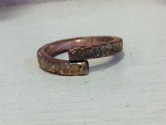 Steampunk Ring.gehämmert Kupfer Ring.Wikinger Kupfer Ring.Rustikal Kupfer Ring.Besonders Muster Ring.Unisex Ringe.Herre Kupfer Ring von Designvonmerrill auf Etsy