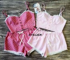 Sewing Lingerie, Cute Lingerie, Kawaii Clothes, Diy Clothes, Pajama Outfits, Cute Outfits, Cute Sleepwear, Babydoll, Fashion Illustration Dresses