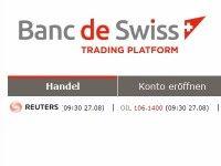 Binäre Optionen bei Banc de Swiss
