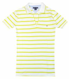 Tommy Hilfiger Women V-neck Striped Buttonless Polo T-shirt (XL, White/lime) Tommy Hilfiger,http://www.amazon.com/dp/B00I4YIOA2/ref=cm_sw_r_pi_dp_WZuntb14Z44ZFJK8