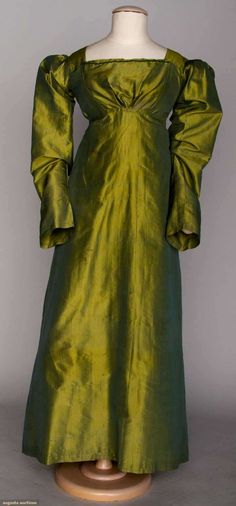 Augusta Auctions, April 17, 2013 - NYC, Lot 17: Changeante Silk Gown, 1815-1825