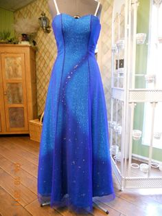 Womens girls dress prom formal C Stone blue gown star pageant performance SALE - Dresses