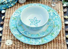 1000 Images About Coastal Dinnerware On Pinterest
