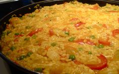 Paella: Authentic recipe as taught to me by my Spanish host mother while studying in Madrid.