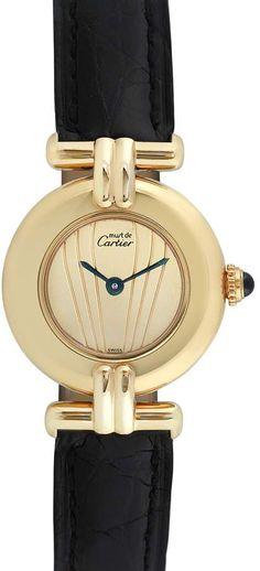 8cfd2d3c163 Cartier Watches Women s Vintage Must de Cartier Gold Vermeil Strap Watch