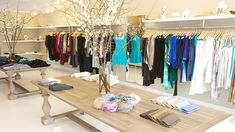 Three Store Counter Design And Clothing Boutiques On