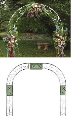 Wedding Arch Flowers - Foam Cages for Arch Flowers Diy Wedding Arch Flowers, Wedding Arbors, Church Flowers, Diy Wedding Decorations, Floral Wedding, Wedding Bouquets, Wedding Ideas, Diy Outdoor Weddings, Arch Decoration