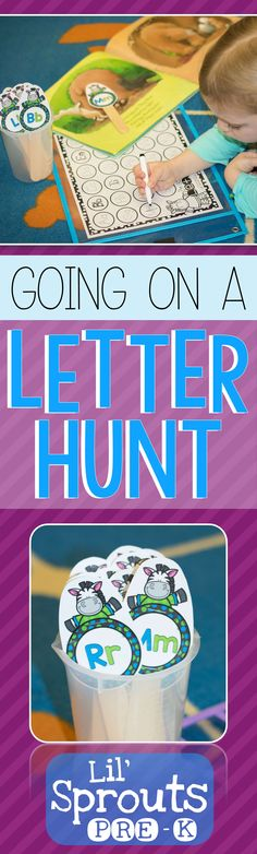 FREE learning letters activity for Preschool, Pre-K, and Kindergarten!  Your kids will love this letter hunt!  Practicing the alphabet doesn't have to be boring, download this FREE LETTER HUNT to engage your little learners!   Lil' Sprouts Pre-K