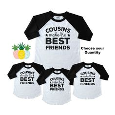 Cousins Make the Best Friends Shirts for Kids - Family Reunion Cousin Shirts - Matching Cousin Shirts - Family Gathering Tees - Cousin Crew Cousins Shirts, Bff Shirts, Family Shirts, Best Friend T Shirts, Friends Shirts, Best Friend Gifts, Best Cousin, Cousin Love, Mothers Day Shirts