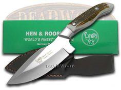 HEN & ROOSTER Genuine Deer Stag Fixed Blade Skinner Stainless Knife - HR4901   4901 - 026615130321