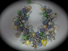 Easter Cluster Charm Bracelet