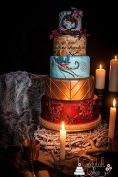 game of thrones wedding..The Sweet Finale  Wow your guests with a dramatic cake topped with the Iron Throne, a sword or a fire-breathing dragon (if you hail from the house of Targaryen