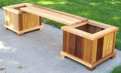 Planter Box Bench Seat - Nature Explore