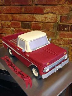 Groundhog Day Gets Even Sweeter — Cake Wrecks Truck Birthday Cakes, Truck Cakes, 3d Cakes, Cupcake Cakes, Chevrolet Trucks, Chevy, Car Cakes For Men, Sculpted Cakes, Cake Wrecks