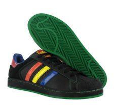 premium selection 8c76a 352d1 Adidas Superstar Ii 2 Black Blue Orange Green Red Adidas Superstar, Blue  Orange, Sole