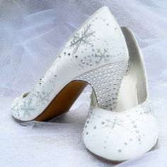 Painted Shoes Bridal Wedding snowflakes