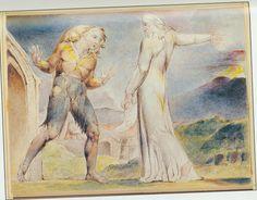 "Illustrations to John Bunyan's *The Pilgrim's Progress* By William Blake:  3 ""Then said Evangelist, pointing his finger"""