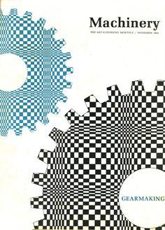 Cover illustration - Machinery November 1965, designer/illustrator unknown