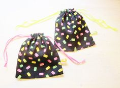 String bag set of 2 candy treat Halloween kids party by poppyshome, €10.00