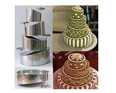 Euro Tins multi layer cake pans Topsy Turvy Round 4 tier ... https://www.amazon.com/dp/B00EPLMS8C/ref=cm_sw_r_pi_dp_x_wD.-yb7CHV7R5