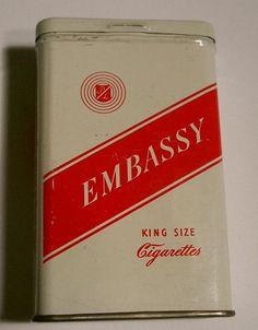 Embassy Cigarette Tin Cigarette Holder, Tin Man, Vintage Tins, Yard Sale, Smokers, Retro, Pop Culture, Advertising, Layout