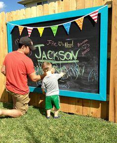 Blackboard Fence Decor