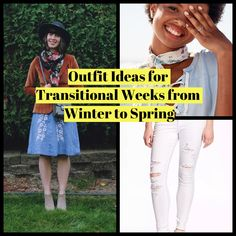 Outfit Ideas for Transitional Weeks from Winter to Spring #Outfit  https://seasonoutfit.com/2018/03/16/outfit-ideas-transitional-weeks-winter-spring/