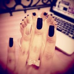 I just want that ring! Those nails are too long/skinny..