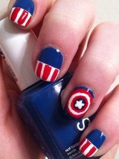Marvel Nail Art | 44 Besten Avengers Fingernagel Bilder Auf Pinterest Avengers Nails