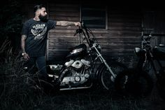 Harley Davidson Chopper Motorcycle Men Tattoos Tattoo Beards Beard Biker Photography hair barber guy male