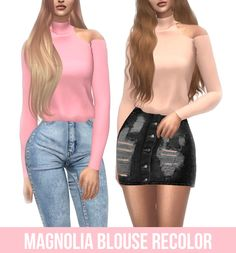 TS4 MAGNOLIA BLOUSE RECOLOR• 18 Swatches • Female • not Hq compatible • Custom Catalog Thumbnail • Credits: to @belaloallure3 Download at my website(no adfly)