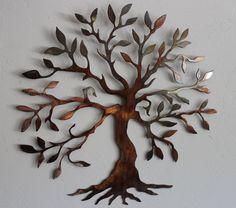 "Olive Tree --Tree of Life  small 14"" version Metal Wall Art Decor by HEAVENSGATEMETALWORK on Etsy https://www.etsy.com/listing/124703758/olive-tree-tree-of-life-small-14-version"