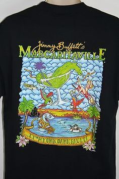 a099dc878 Jimmy Buffet Margaritaville French Quarter New Orleans Black T-Shirt L  French Quarter, Graphic