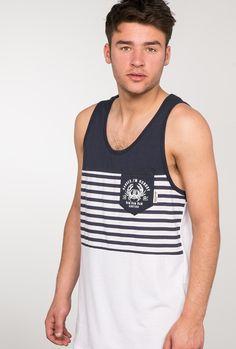133105db6 Camiseta de tirantes marino con bolsillo print