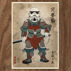 Star Wars Movie Inspired Stormtrooper Poster - 16x12