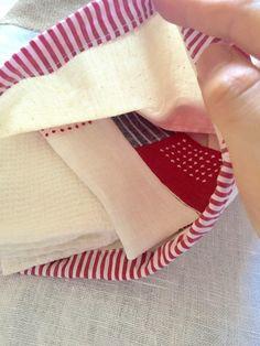 Image 4 e sac à cordon lin rouge