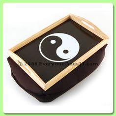 Beanie Rolling Tray - Yin Yang (Black)